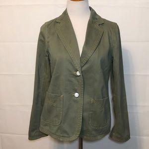 Gap Maternity Army Green Cotton Jacket Sz MED